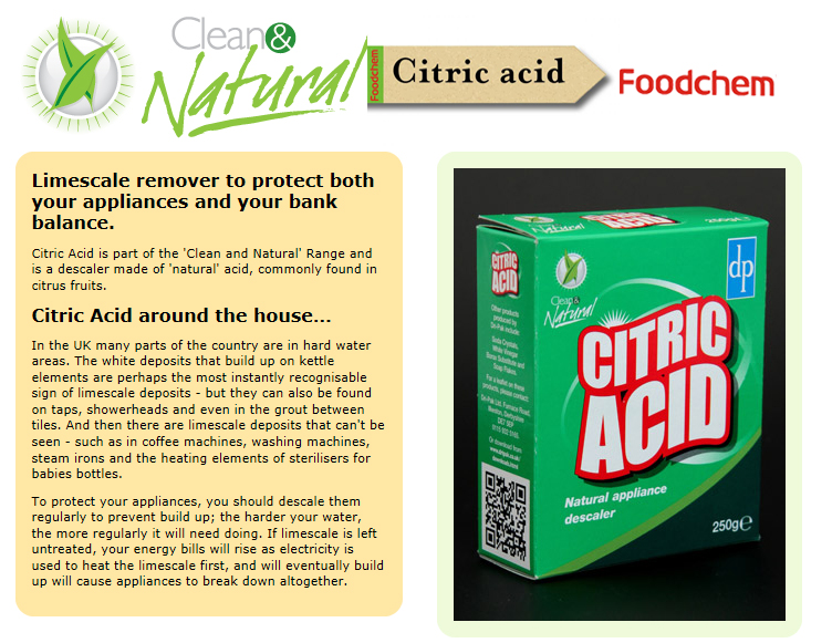 Citric acid suppliers